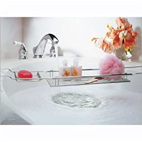 Chrome Expandable Bathtub Caddy - Up to 39