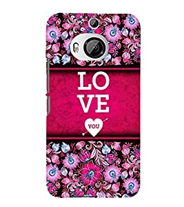 Love You Design 3D Hard Polycarbonate Designer Back Case Cover for HTC One M9+ :: HTC One M9 Plus