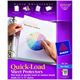 Avery  Nonglare Quick-Load Sheet Protectors, Acid Free, Box of 50 (73803)