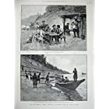 Yenisei River, Worogoro Steam Ship Phoenix, 1891, Print