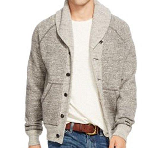Polo Ralph Lauren Shawl Collar Cardigan, Grey Marl, XXL