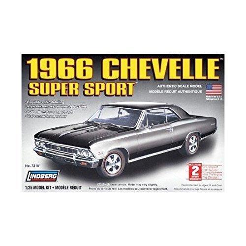Lindberg 1966 Chevelle Super Sport 1:25 Scale Model Kit by Lindberg (Chevelle Super Sport compare prices)