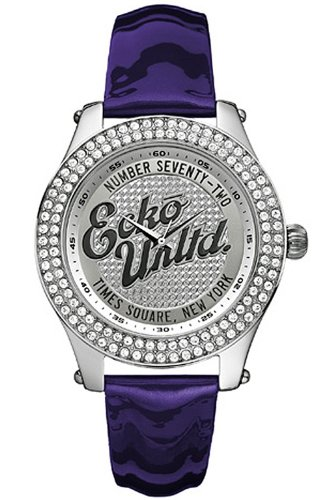 Marc Ecko Rollie Purple and Silver Ladies Watch - E10038M3