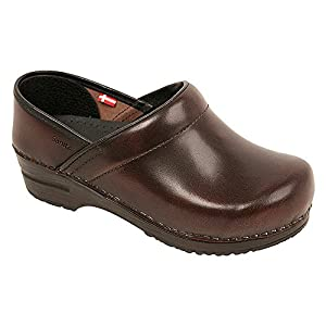 Original by Sanita Women's Cabrio Clog Brush Off Leather Brown