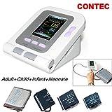 CONTEC08A FDA Approved Fully Automatic Digital Upper Arm Blood Pressure Monitor Adult, Child, Pediatric,Neonotal Cuffs (4 Cuffs) (Tamaño: 4 cuffs(Adult, Child, Pediatric,Neonotal))