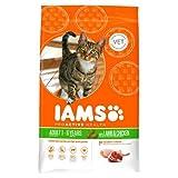 New - Iams Adult Dry Cat Food Lamb 800g Case of 2