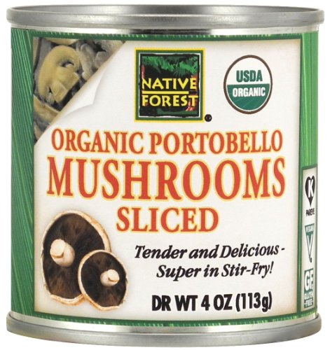Native Forest Organic Sliced Portobello Mushrooms, 4-Ounce Cans (Pack of 12) (Can Mushroom compare prices)