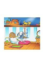 FUNNY BED by MANIFATTURE COTONIERE Panel Decorativo Soffitta (Azul/Multicolor)