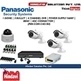 Panasonic Hl1104K 4Ch DVR, 1(HFN103L) Dome Camera, 3(HPN103L) Bullet Camera (With Power Supply,Connectors)