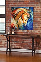 "Dawson Horse Bella Iv Stretch Canvas 36"" X 36"""