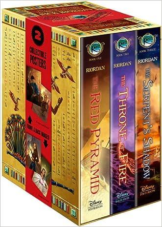 The Kane Chronicles Hardcover Boxed Set written by Rick Riordan