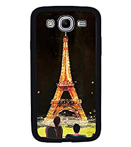 Fuson Premium 2D Back Case Cover Eiffel tower With White Background Degined For Samsung Galaxy Mega 5.8 i9150::Samsung Galaxy Mega 5.8 i9152
