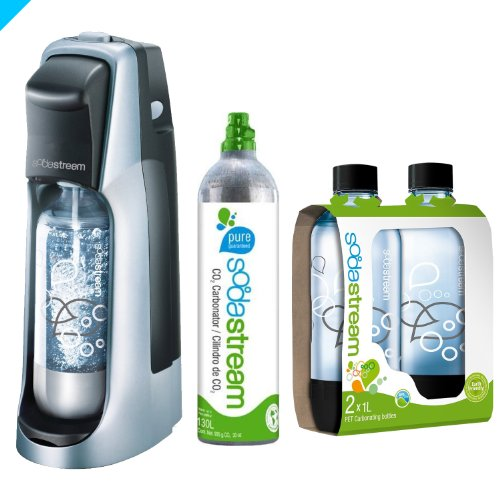2-Pack Black SodaStream 1//2-Liter Carbonating Bottle