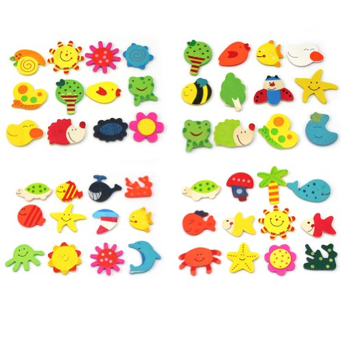 24pcs-Novelty-Animals-Wooden-Fridge-Magnet-Sticker-Cute-Funny-Refrigerator-Toy