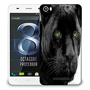 Snoogg Black Tiger Designer Protective Phone Back Case Cover For LAVA IRIS X8