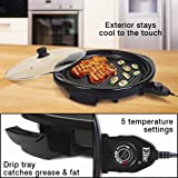 MaxiMatic EMG-980B Elite Gourmet Electric Indoor Grill, 14-Inch, Black