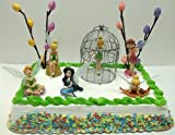 Disney Tinker Bell and Fairies Birthday Cake Topper Set Featuring Tinker Bell in Various Poses, Rosetta, Silvermist and Tinker Bell Themed Decorative Pieces