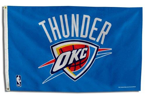 Oklahoma City Thunder Nba 3ft X 5ft Banner Flag FGB68002