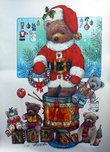 6 er SET 68 x 48,5 cm RETRO KULT XXXL RIESEN WEIHNACHTSBÄR TEDDY selbstklebende Autoaufkleber, Fensterdekoration Fensterbild, Fensteraufkleber, MADE IN GERMANY Wandtattoo Deko Sticker, Weihnachtsdekoration, Schaufenster In- und Outdoor , Kinderzimmer, Winter Basteln Spielen Kleben, Bunte Klebebilder für das Fenster Sticker, Weihnachten Rentier Tannenbaum Geschenke Weihnachtskalender Nikolaus Engel Christmas Schneemann