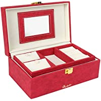 Richpiks Small Travel Friendly Locker Friendly Jewellery Accessories Box Red Color