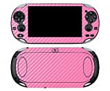 Pink Carbon Fiber Vinyl Skin Sticker Cover Protector for Sony Playstation PS Vita PSV