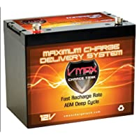<strong>Vmaxtanks MR107 12V 85AH Marine AGM SLA Deep Cycle Battery</strong>