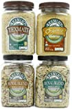 RiceSelect Whole Grain Lovers Sampler, Rice and Couscous Variety Pack, 4-Jar Set