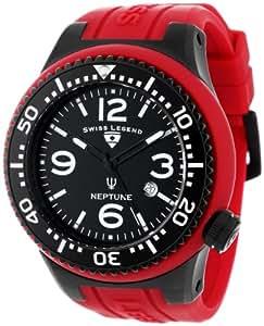 Swiss Legend Men's 21818S-F-TBB Neptune Black Dial Maroon Silicone Watch