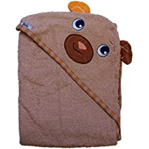 """Extra Large 40""""x30"""" Absorbent Hooded Towel, Bear, Frenchie Mini Couture"""