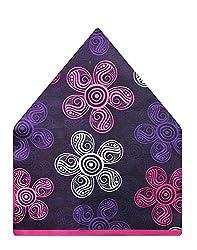 Tiekart Floral Print Polyester Pocket Square (Ps510_Multi-Coloured)