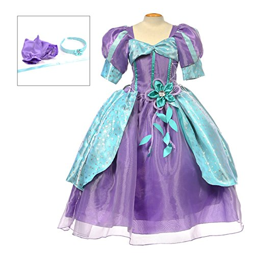 MylittlelizShop Disney Little Mermaid Princess Dress Kids Costume