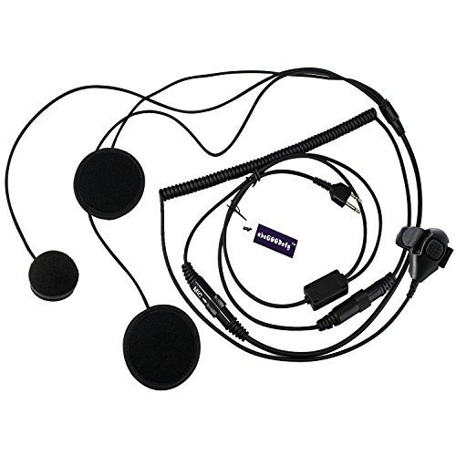 abcGOODefg-2-Pin-Full-Face-Helmet-Motorcycle-Earphone-Headphone-with-Microphone-for-MidlandAlan-GXT1000VP4-LXT118-GMRSFRS-GXTLXT-2-Two-Way-Radios