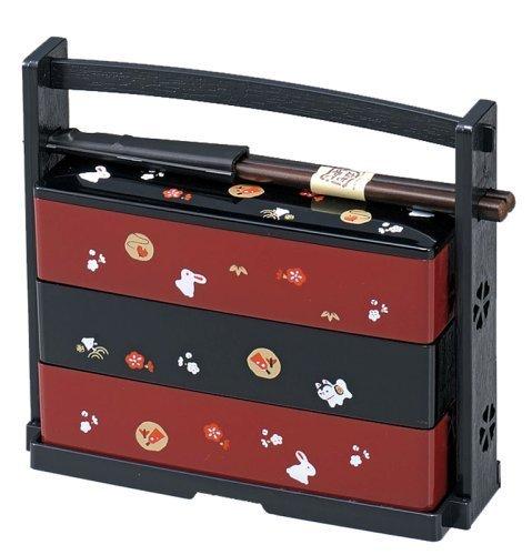 Usagi Lunch Bento Box 3 Tier #51135 By Samurai Market