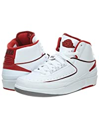 Air Jordan 2 Retro BG White/Black-Varsity Red-Cement Grey