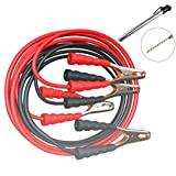 Jumper Cables with a Case - The Quick and Effective 12 Foot Long Booster Cable for Cars with a Pencil Tire Pressure Gauge