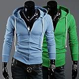 Mode Zip-up cardigan à capuche Homme Slim manteau de Sweat