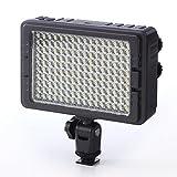 サンワダイレクト カメラ用LEDライト 160灯 常時点灯型 色温度可変 ビデオカメラ 対応 200-DG011