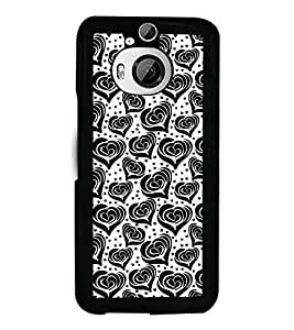 Fuson Premium Pencil Hearts Metal Printed with Hard Plastic Back Case Cover for HTC One M9 Plus / HTC One M9+