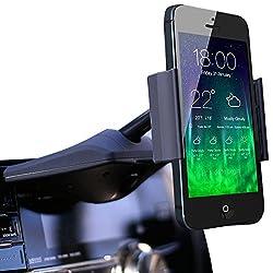 Koomus CD-Air CD Slot Mount Universal CD Slot Smartphone Car Mount Holder Cradle for iPhone 5S, 5C, 5, 4S, 4, iPod touch, Samsung Galaxy S5, S4, S3, Note 2, Note 3, Nexus S, Motorola Droid Razr HD, Maxx, Nokia Lumia 920, LG Optimus G, HTC One X, S, M7