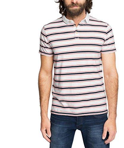 ESPRIT aus Baumwoll Jersey - Slim Fit-Polo Uomo    Bianco (White 100) X-Large