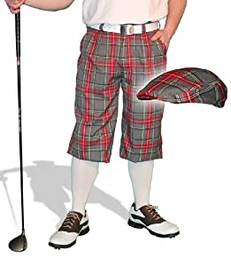 amazoncom plaid golf knickers amp cap mens par 5