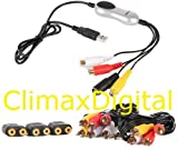 ClimaxDigital VCAP305 USB 2.0 Game Capture Kit for Wii, Xbox 360, PS3, PS2 that has AV composite output (Yellow, Red, White) Play game in standard definition (NOT HD) on your TV and record game playing to your laptop/PC in standard definition MPEG2 forma