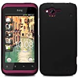 Glossy Hybrid Rubberized - Hard Mobile Phone Case Cover For HTC Rhyme G20 S510B / Black