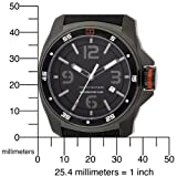 Tommy Hilfiger Men's 1790708 Sport Black Ion Plated Case with Silicon Strap Watch
