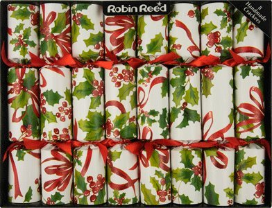 8-X-10-English-Christmas-Crackers-By-Robin-Reed-Holiday-Holly