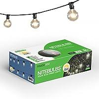 NITEBULB 20 ft. Solar Patio String Lights