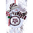 Texas A&M Jolly Snowman Christmas Ornament