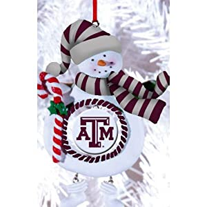 Texas A&M Jolly Snowman Christmas Ornament