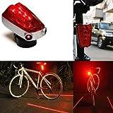 Neewer Waterproof LED Multi-functional Laser Beam Bicycle Bike Taillight Rear Light