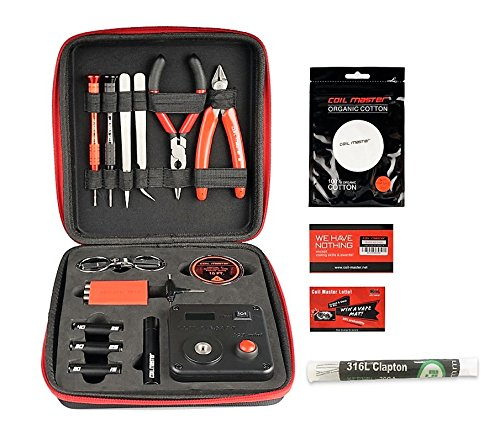 Coil Master 100% Authentic DIY KIT V3 Tool SET with Latest Coil Jig (V4) / 521 Tab Mini ohm reader / Tweezers / Heat Resistant Wire NEWEST Tool Kit, Exclusive LifeMods Bundle Edition (Coil Building Tool Kit compare prices)